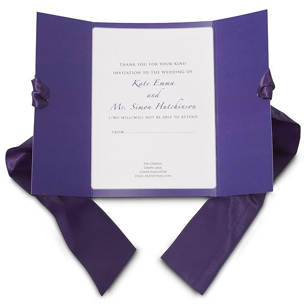 Mayfair Ribboned Stationery RSVP