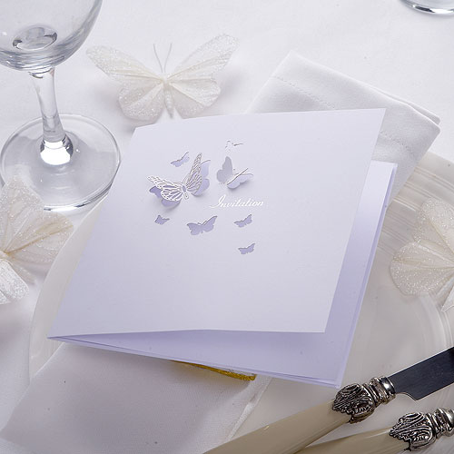 Pearl Butterfly Evening Invitation