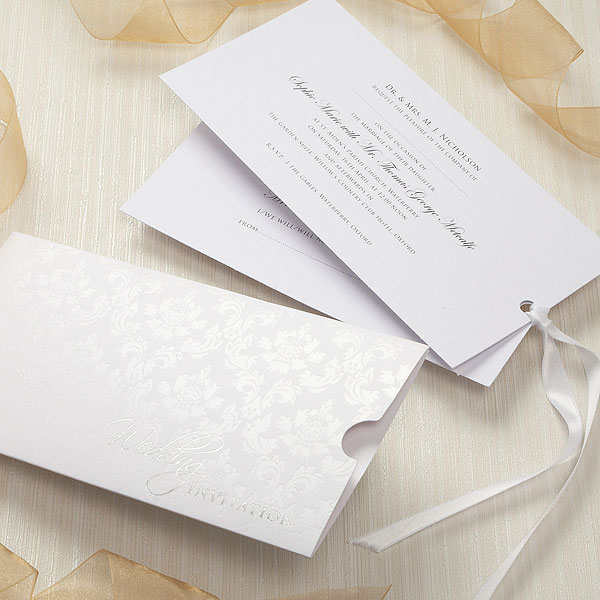 Precious Wallet Collection With Ribboned Insert Stationery Collection Invitation