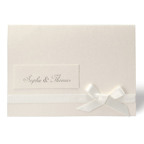 Simplicity Pearlised Wallet With Ivory Ribbon Evening Invitation
