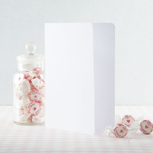 White Folded Insert - 189mm x 133mm