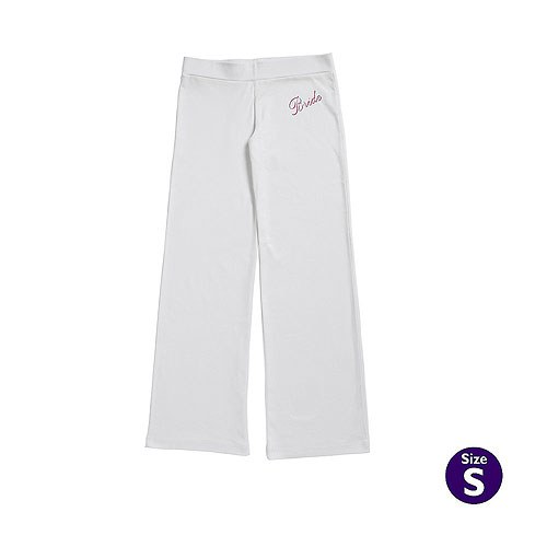 White Bride Slouch Trouser - Small