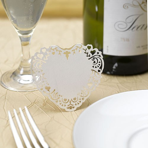 Ivory Vintage Romance Laser Cut Placecard Pack - 10 Pack