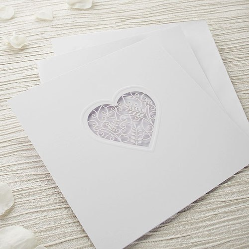 Heart Images For Wedding Invitations: Grace DIY Heart Laser Cut Wedding Invitation Kit