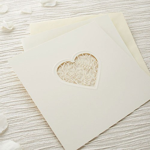 Wedding Invitation Diy Kits: Grace DIY Heart Laser Cut Wedding Invitation Kit