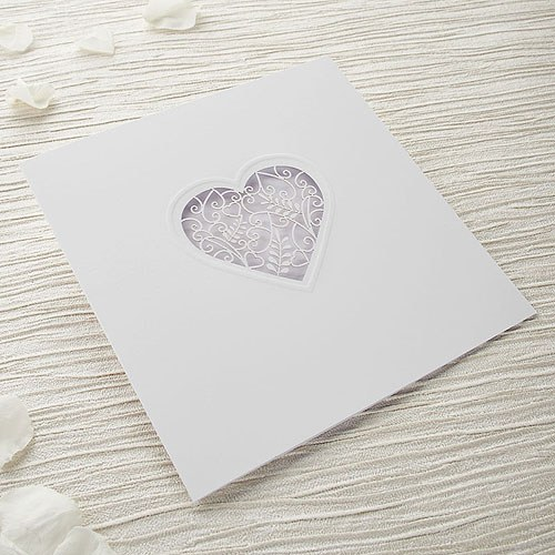Diy Wedding Invitations Kits: Grace DIY Heart Laser Cut Wedding Invitation Kit