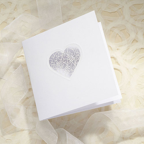 Grace DIY Heart Laser Cut RSVP/Thank You/Save the Date