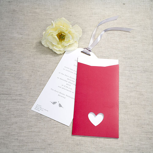 Fuschia Eco Chic DIY Large Wallet Invitation Kit - 10 Pack
