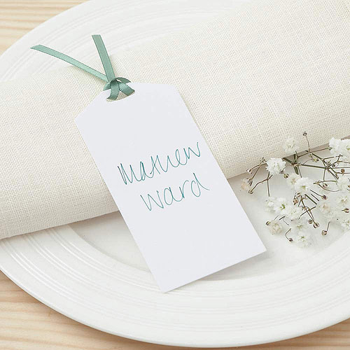 White Eco Chic Plain Place Card Tag - 10 Pack