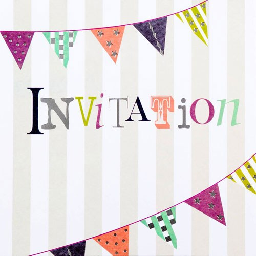 Party Invitation Cards - 6 Pack