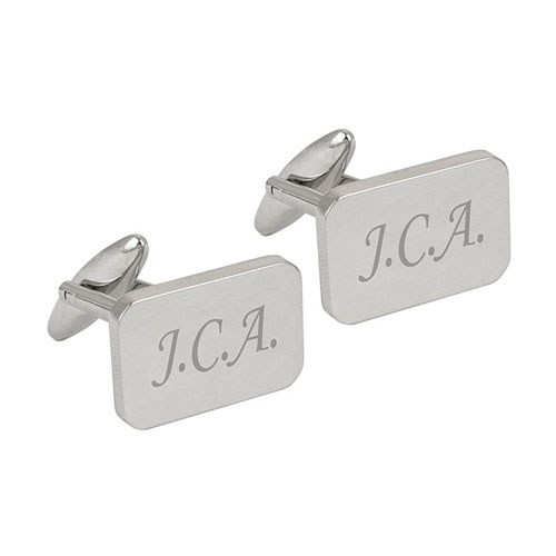 Rectangle Cufflinks Father of Bride   Personalised