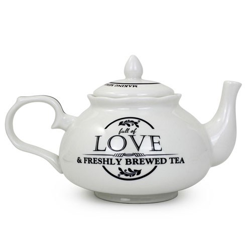Bride & Groom Ceramic Teapot Gift   Personalised