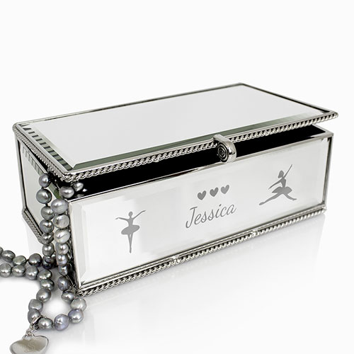 Personalised girls ballerina jewellery box for Girls large jewelry box