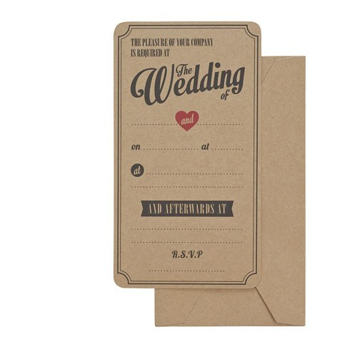 Vintage Affair   Wedding Invitations   10 Pack