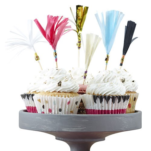 Confetti Party   Cupcake Toppers