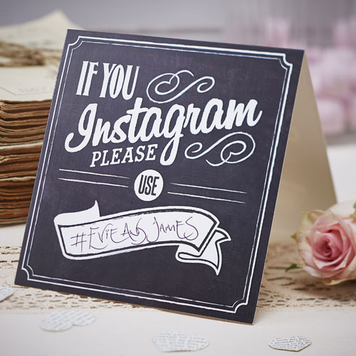 Vintage Affair If You Instagram Tent Cards