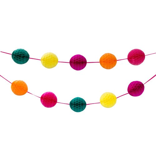 Multi Colored Hanging Honeycomb Garland
