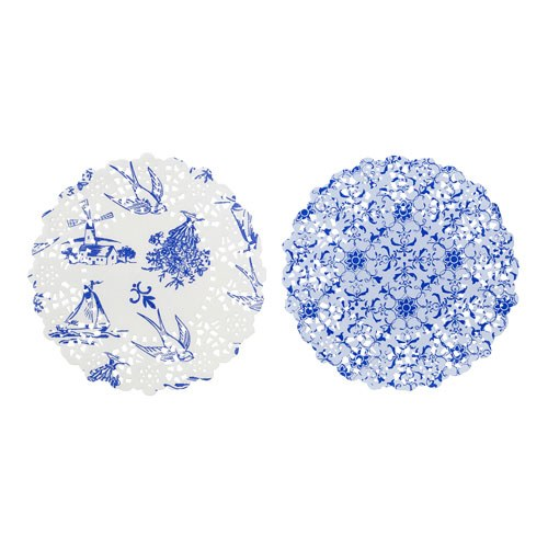 Mini Blue Paper Doilies