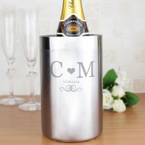 Personalized Monogram Stainless Steel Wine Cooler