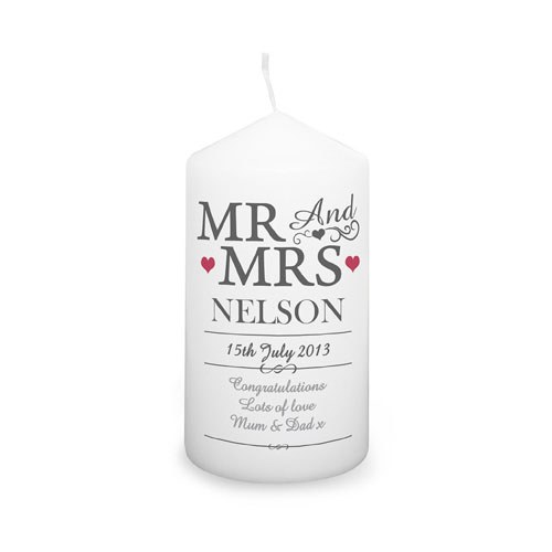 Personalized Mr & Mrs Candle
