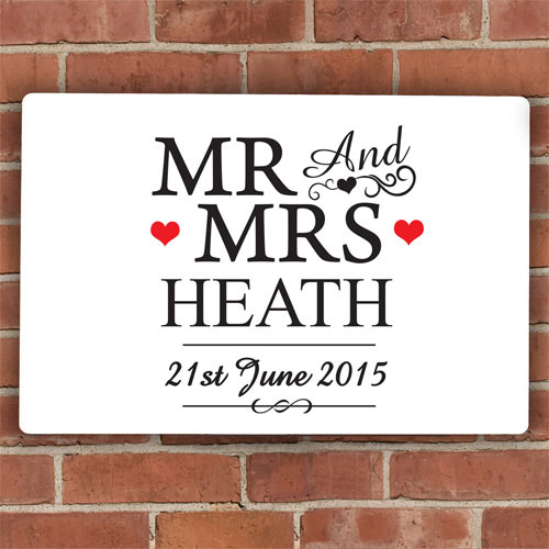 Personalized Mr & Mrs Plaque