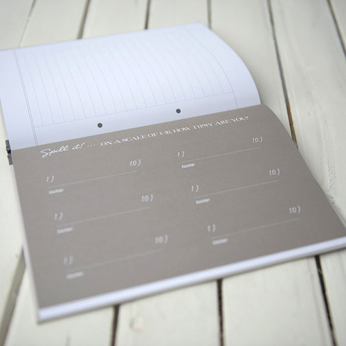Grey Just Married Guest Book
