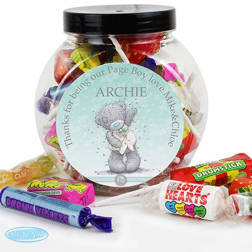 Personalized Me to You Wedding Sweet Jar