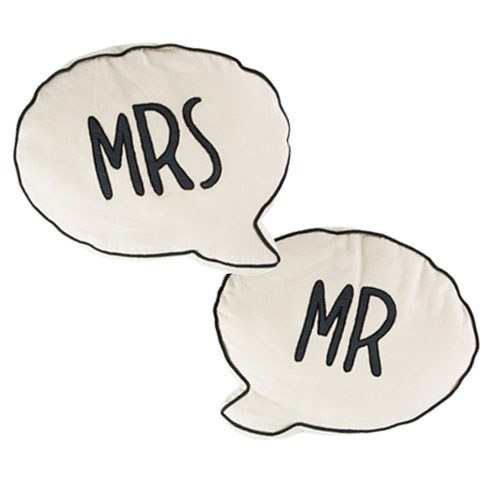 Mr & Mrs Bubble Cushions