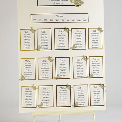 Butterfly Wedding Table Plan Seating Kit A2 - Confetti.co.uk
