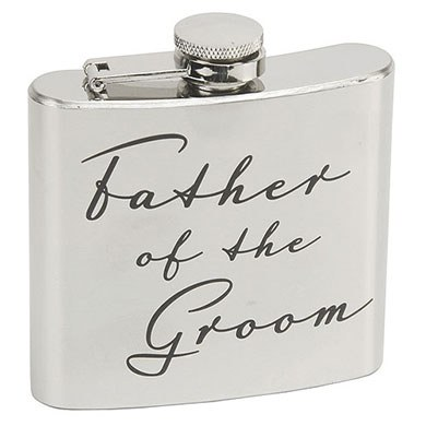 Amore 5oz Stainless Steel Hip Flask  Father of the Groom