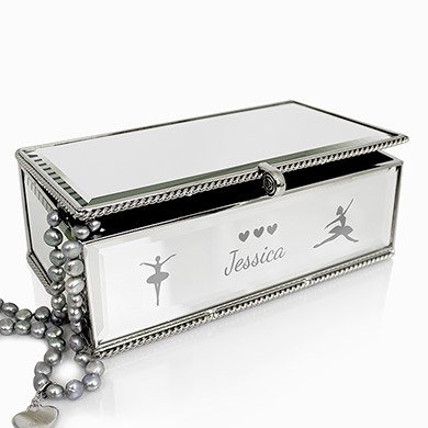Personalised Girls Ballerina Jewellery Box