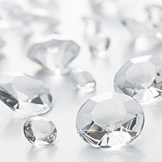 Clear Diamante Table Gems 100g Mixed Size Value Pack