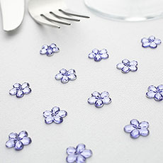 Flower Diamante Table Gems Pack