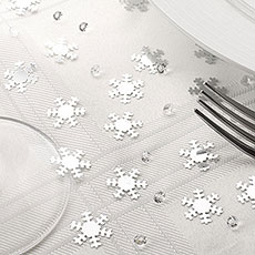 Silver Snowflake Table Confetti & Gems Pack