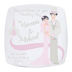 Personalized Wedding Couple Plate