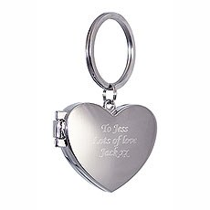 Personalized Heart Photo Keyring