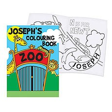 Personalized Zoo Coloring Book