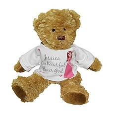 Personalized Fabulous Flower Girl Teddy