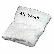 Personalized White Hand Towel