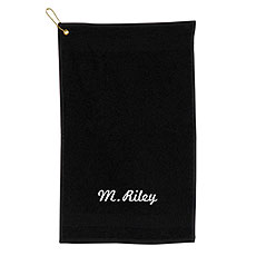 Personalized Golf Towel White Print