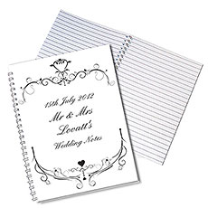 Personalized Ornate Swirl Notebook