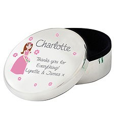 Personalized Fabulous Wedding Round Trinket Box