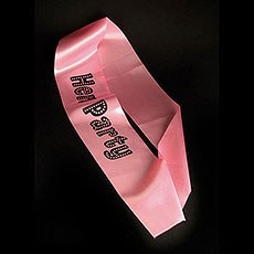 Pink Hen Party Printed Sash