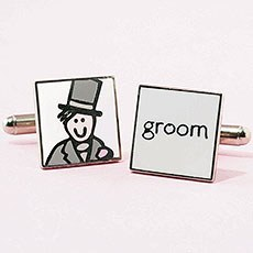 Groom Picture Cufflinks