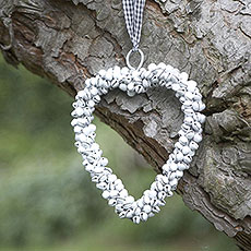 White Bell Hanging Heart Decoration
