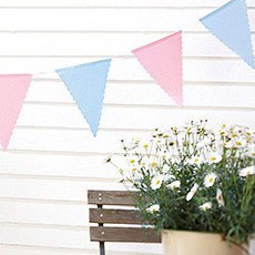Pink and Blue Polka Dot Cotton Bunting