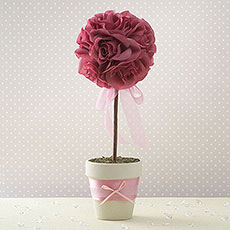 Fabric Petal Wedding Topiary Tree