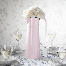 Large Pastel Pink Metal Jug Centerpiece
