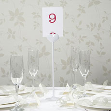 White Metal Heart Table Number Holder