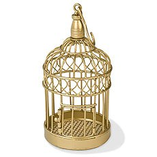 Small Gold Wedding Birdcage
